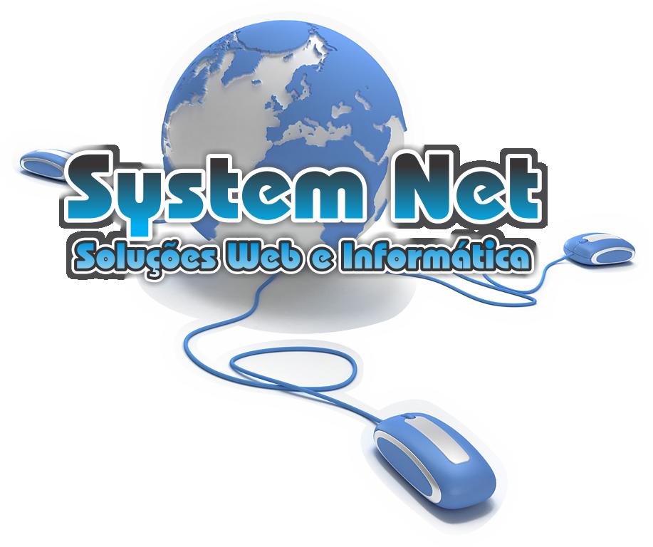 Logo SYSTEM NET soluções web e informática